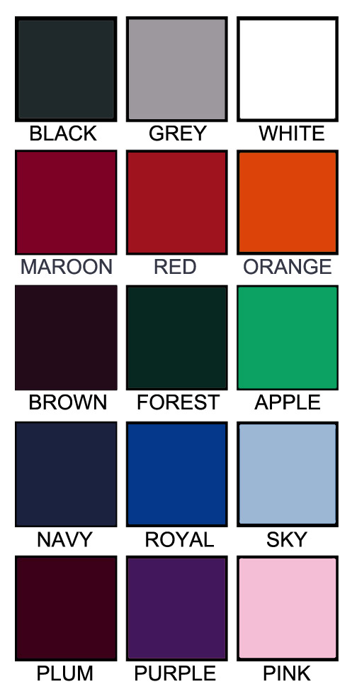 T shirt color chart G